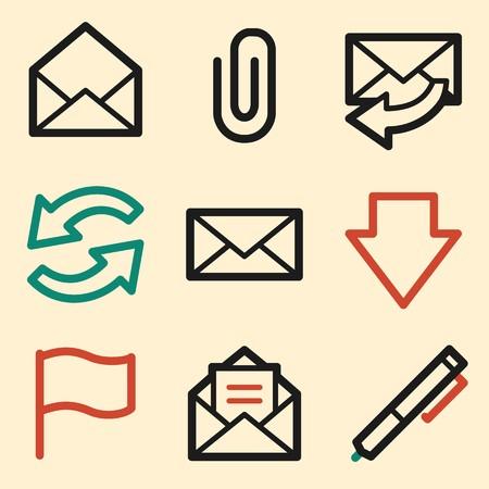 webmail: E-mail web icons. Mobile icon, infographics symbols.