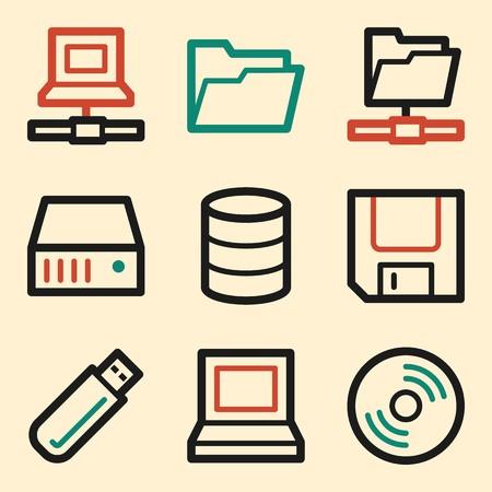 storage: Drive storage web icons