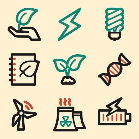 Ecology icon, green technology mobile icon, vector pictogram. Eco infographics symbols. Illustration