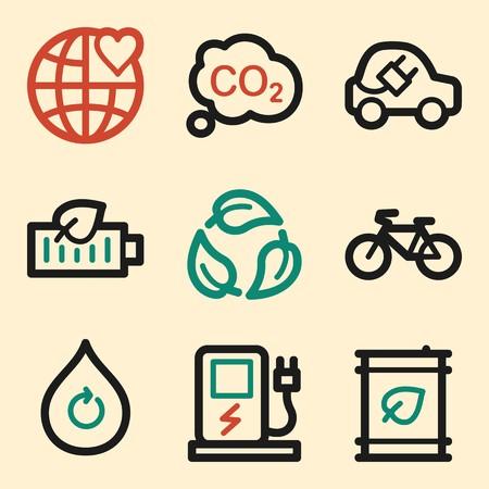 electro world: Ecology icon, green technology mobile icon, vector pictogram. Eco infographics symbols. Illustration