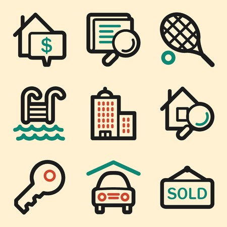real tennis: Real estate web icons