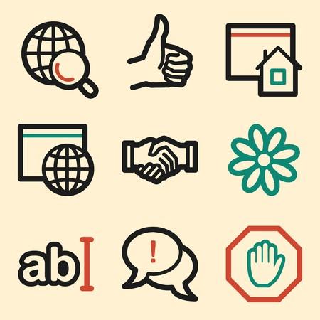icq: Internet web icons
