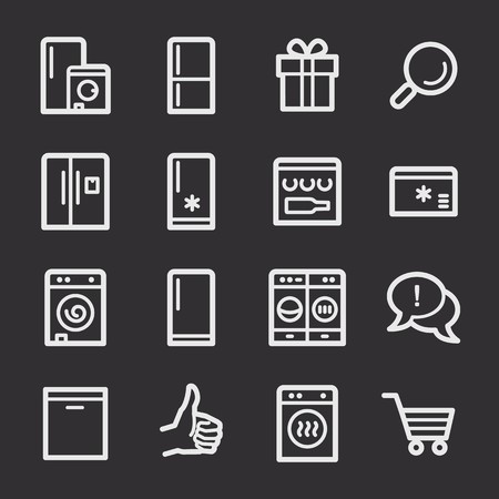 web: Kitchen Appliances Web Icons Illustration