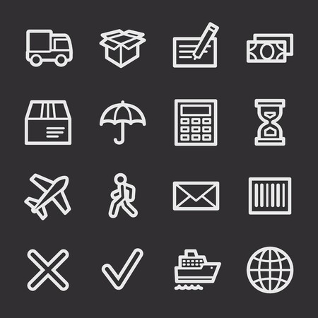 web: Delivery web icons set