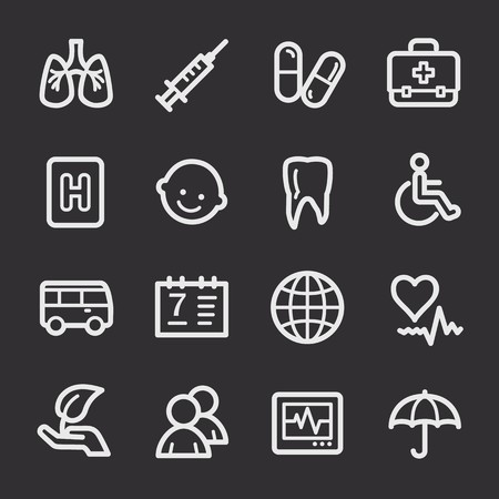 web: Medicine web icons Illustration