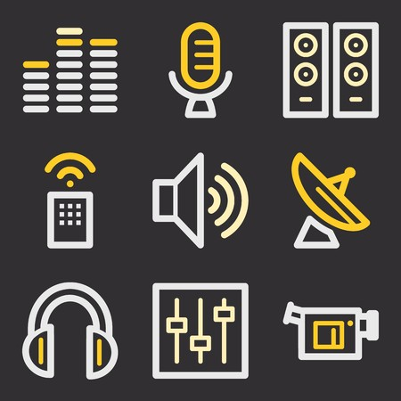 web: Media web icons Illustration