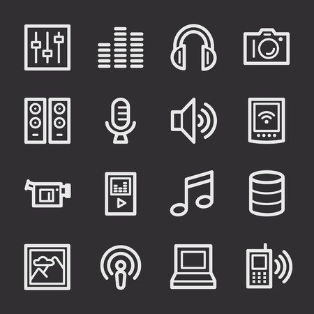 web: Media Web Icons Set