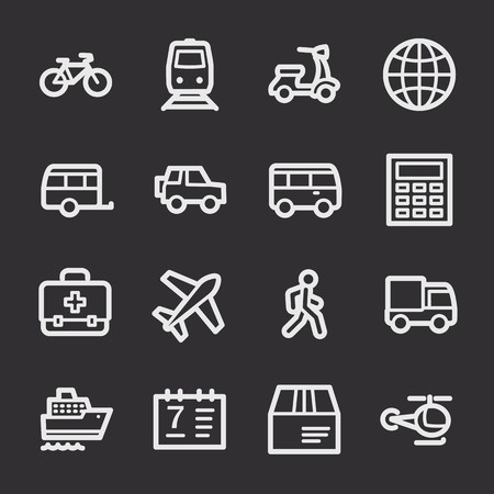 web: Travel web icons