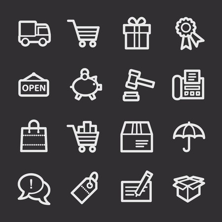 web: Shopping web icons