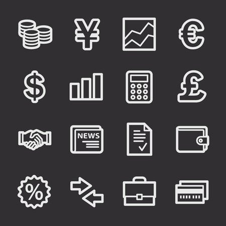 web: Finance web icons set
