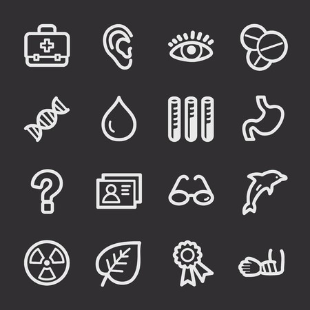 web: Medicine web icons set