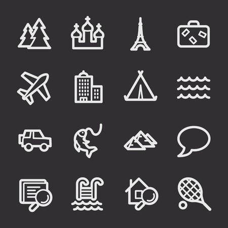 ny: Travel web icons