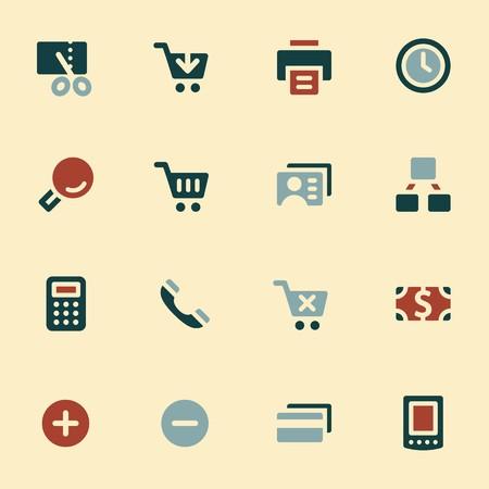 pay money: Shopping mobile icons, e-commerce infographics symbols. Illustration