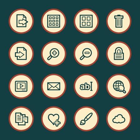 Image viewer web icons set Ilustração Vetorial