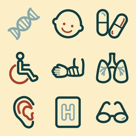 pulmones: Medicine mobile icon. Health infographics symbols. Illustration