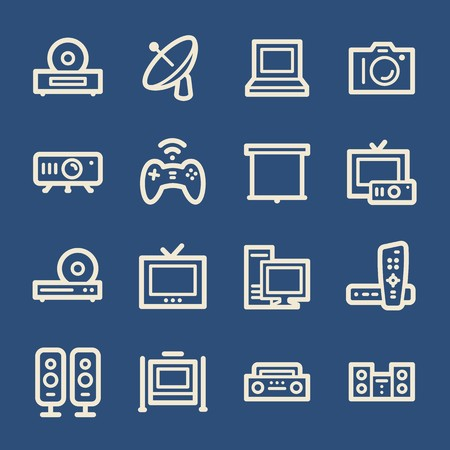 blu ray: Electronic Appliances Web Icons
