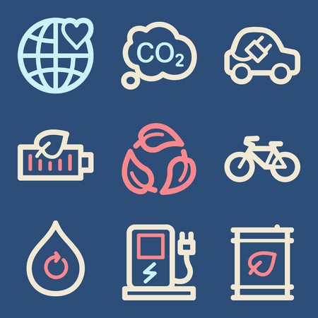 electro world: Ecology icon, green technology mobile sign. Eco infographics symbols Illustration