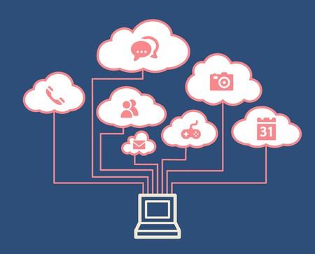 cloud computing concept: Cloud computing concept Illustration