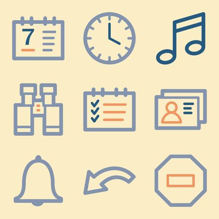 Documents Web Icons Set Office And Crm Mobile Symbols Royalty Free