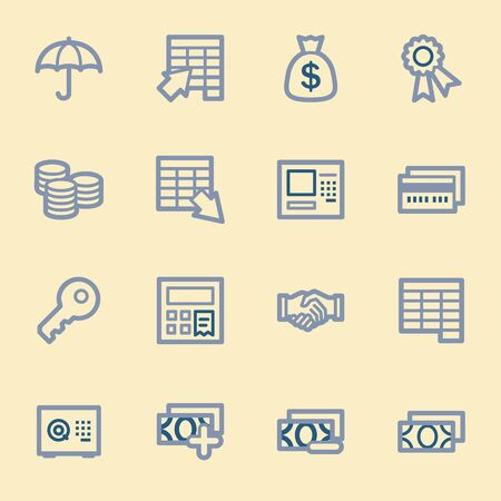 home finances: Finance and Banking icons