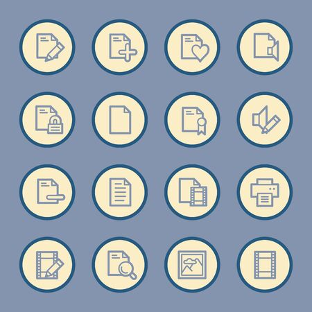 safe and sound: Document web icons set