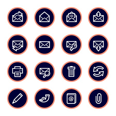 lock symbol: Email web icons set
