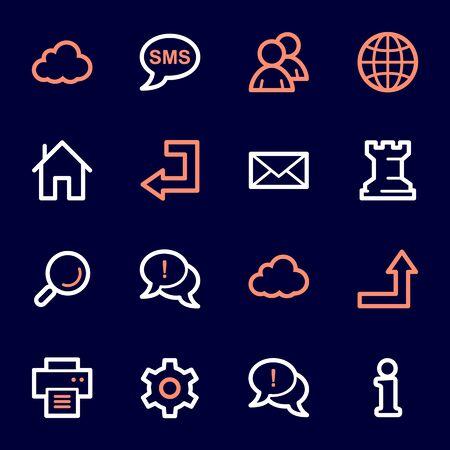 Conjunto de iconos de web e internet