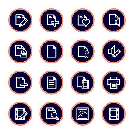 Documento conjunto de iconos web