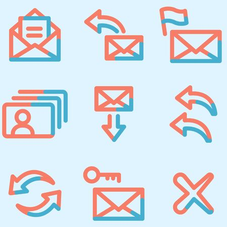 E-mail icons set, signs for infographics, web, presentation