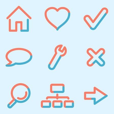 Web icons set, signs for infographics, web, presentation