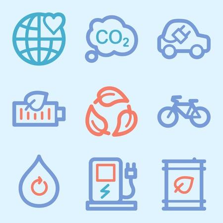 Ecology icon, green technology mobile sign. Eco infographics symbols Stock Photo