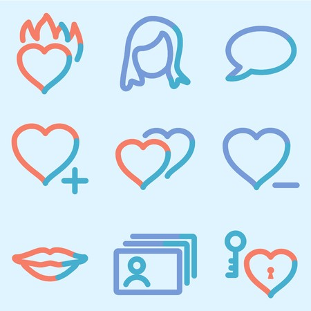 Dating icons, color contour series