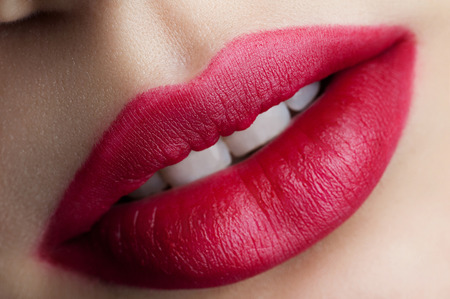 red lips Stock Photo