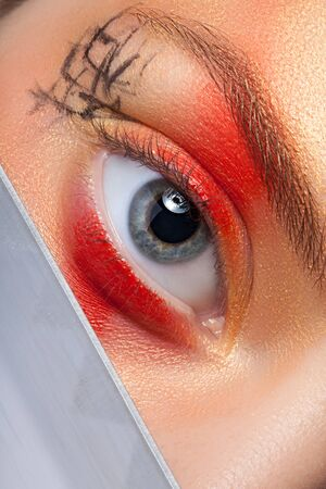 eyelids: Eye makeup in the Japanese style.