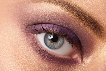 Eye makeup closeup. Very beautiful eyes. To advertise cosmetics for the eyes. Stock Photo