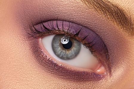 eye makeup: Eye makeup closeup. Very beautiful eyes. To advertise cosmetics for the eyes. Stock Photo