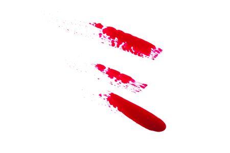 nailpolish: Very beautiful blot on a white background. Stock Photo