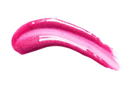 Bella labbra rosa lucido su sfondo bianco