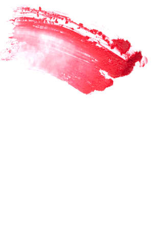 varnish for the nails: Very beautiful  cosmetics sample  on a white background.