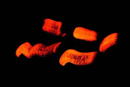 ultraviolet: Bright neon glows under ultraviolet cosmetics. Stock Photo