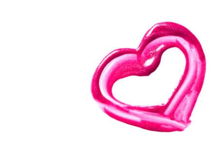 gloss: Beautiful pink lip gloss on a white background