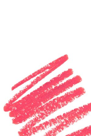 lip pencil: Beautiful cosmetics sample  on a white background.
