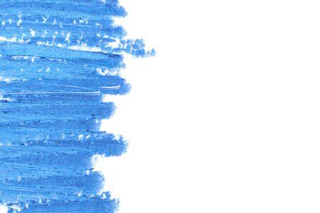 blue eye: Beautiful cosmetics sample  on a white background.