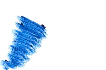 ultramarine blue: Beautiful cosmetics sample  on a white background.