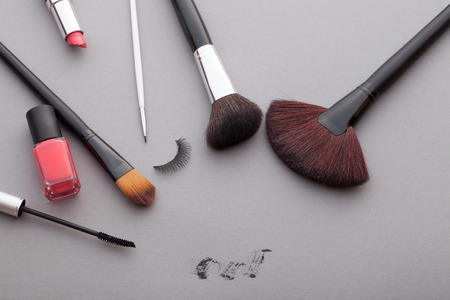 varnish for the nails: Very beautiful cosmetics advertising.