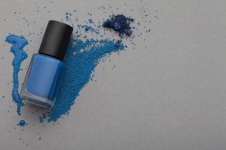 varnish for the nails: Cosmetics top view Stock Photo