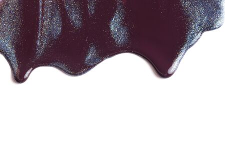 burgundy colour: Drip paint on a white background.