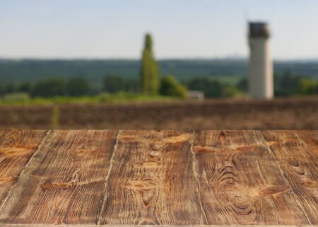 Very beautiful old wooden table close-up.