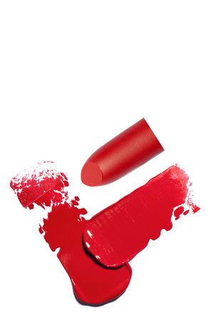 Womens lipstick close-up for advertising
