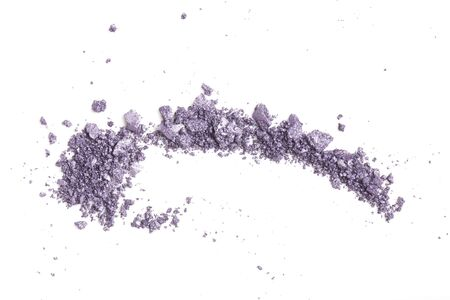 A beautiful sample of a makeup texture on a white background